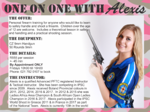 Personal firearm training with Alexis Biermann